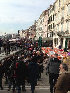 Crowded street in Venice